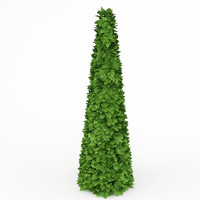 conical bush 3d max