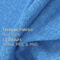 13 Blue Textured Fabrics
