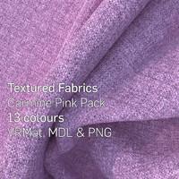 13 Carmine Pink Textured Fabrics