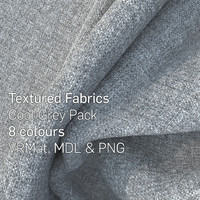 8 Cool Grey Textured Fabrics