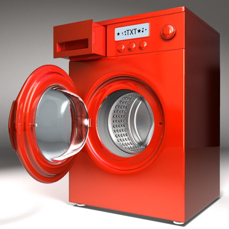 3d washing machine model