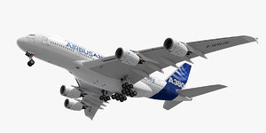3d model airbus a380 plane