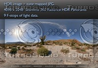 HAZY AFTERNOON AT OCOTILLO FOREST IN ANZA-BORREGO DESERT , 360 PANORAMA #18