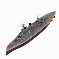 3D hms canada battleship royal navy model