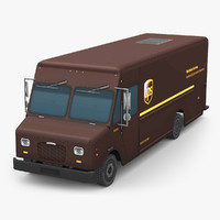 3D ups delivery truck
