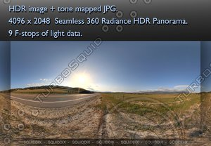 ROAD BY ROLLING HILLS AND PASTURES, 360 PANORAMA #25
