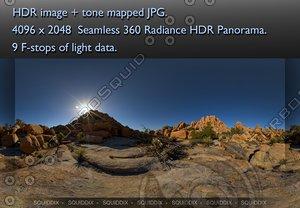 JOSHUA TREE SUNSET ROCK FORMATIONS 2010 # 1, 360 PANORAMA #62