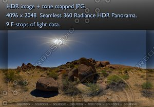 JOSHUA TREE ROCK FORMATIONS 2010 # 2, 360 PANORAMA #71