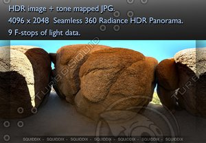INSIDE A ROCK CAVE , 360 PANORAMA #77