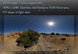 A TRAIL THROUGH JOSHUA TREE ROCK FORMATIONS  , 360 PANORAMA #349