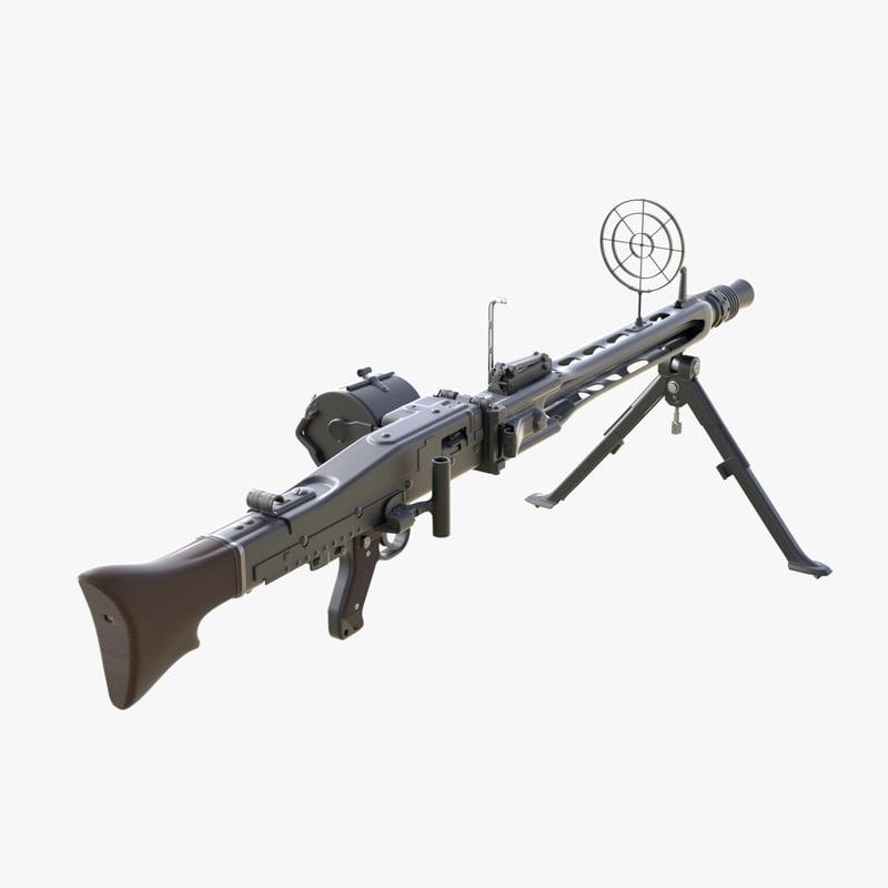 3d max german machine gun mg 42