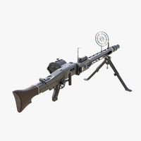 3d max german machine gun mg 42