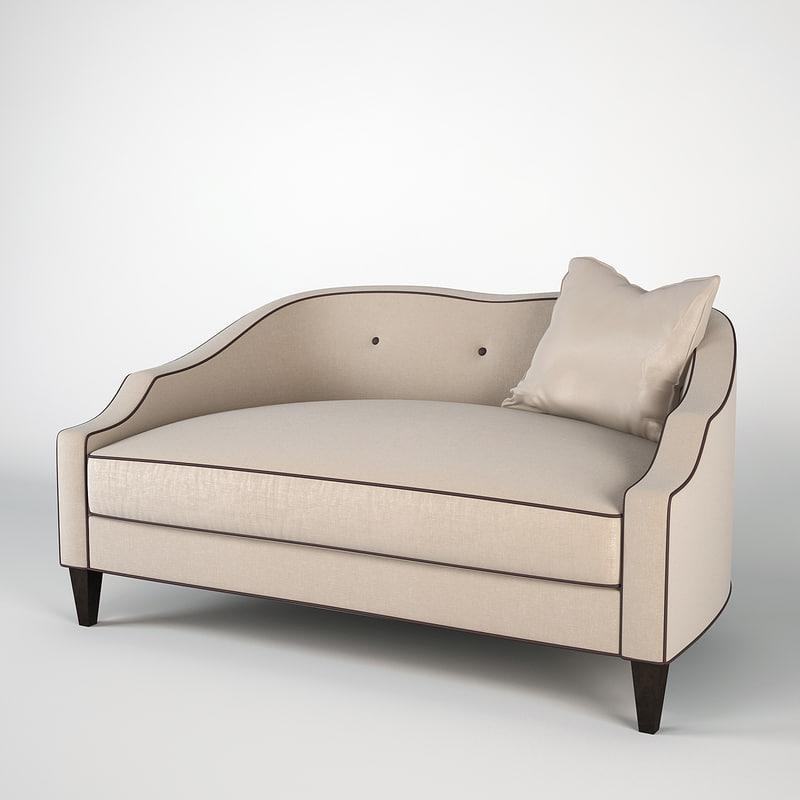 sofa christopher guy 60-0301 3d model