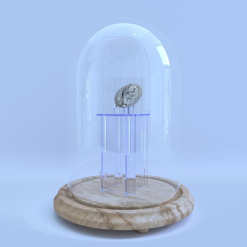 coin glass cloche 3d max