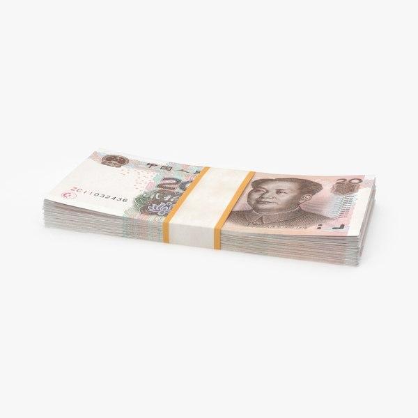20-yuan-note---stack model