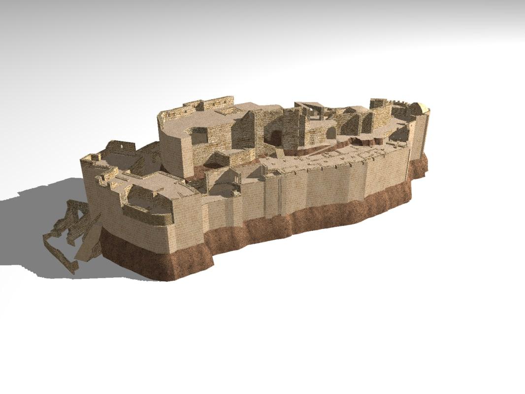 3d ruin real masyaf castle model
