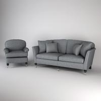 sofa armchair 3d x