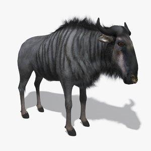 wildebeest fur 3d max
