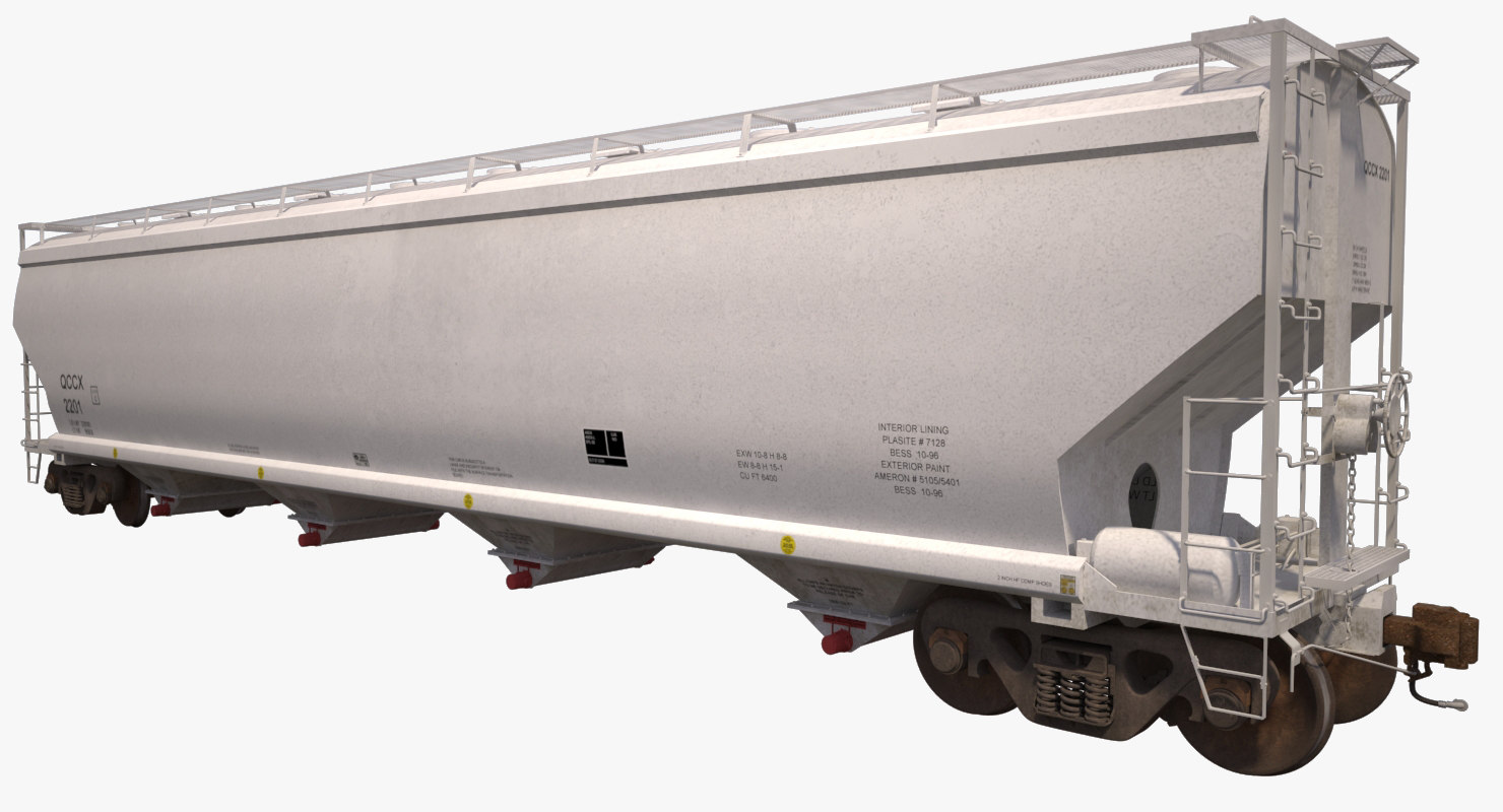 covered hopper c214 3d model