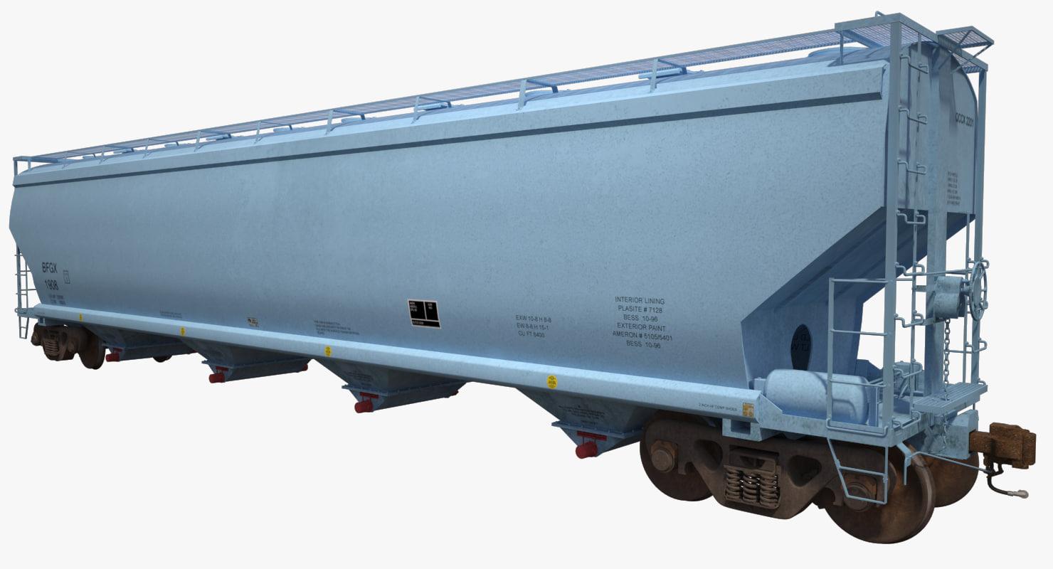 3d model covered hopper c214