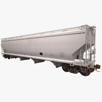 3d model covered hopper c214