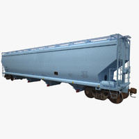 covered hopper c214 3d max