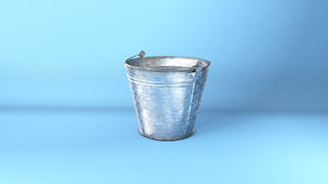 bucket galvanized steel 3d model