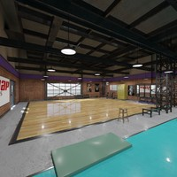 fitness hall 3d model