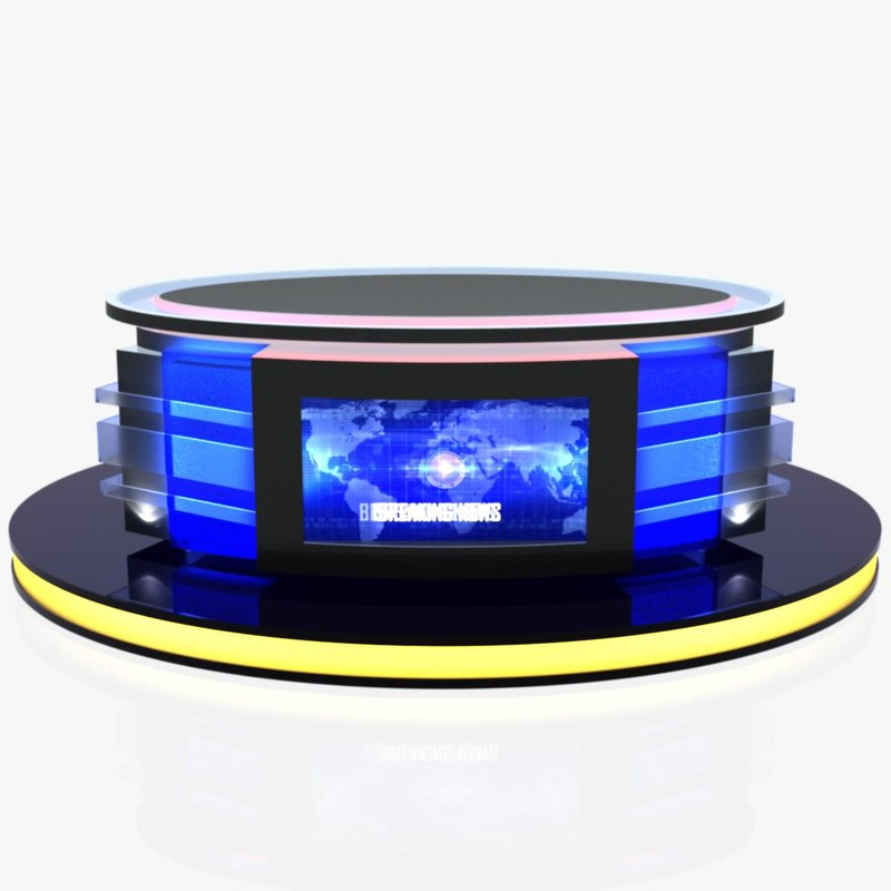 virtual tv studio news 3D model