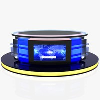 virtual tv studio news 3D model