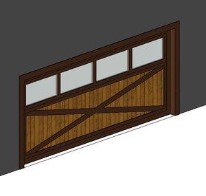 Parametric Overhead Door - Wood with Glass