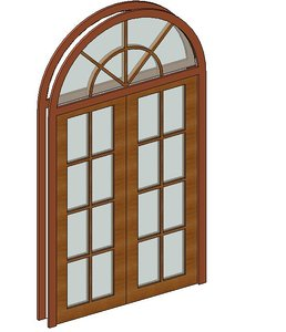 Double French Door with arch