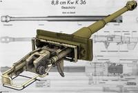 3d tank gun 8 cm