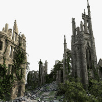 Medieval Ruined Town 01