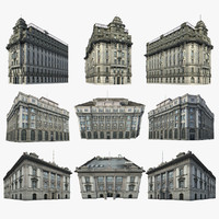 old shanghai architecture office building 3d model