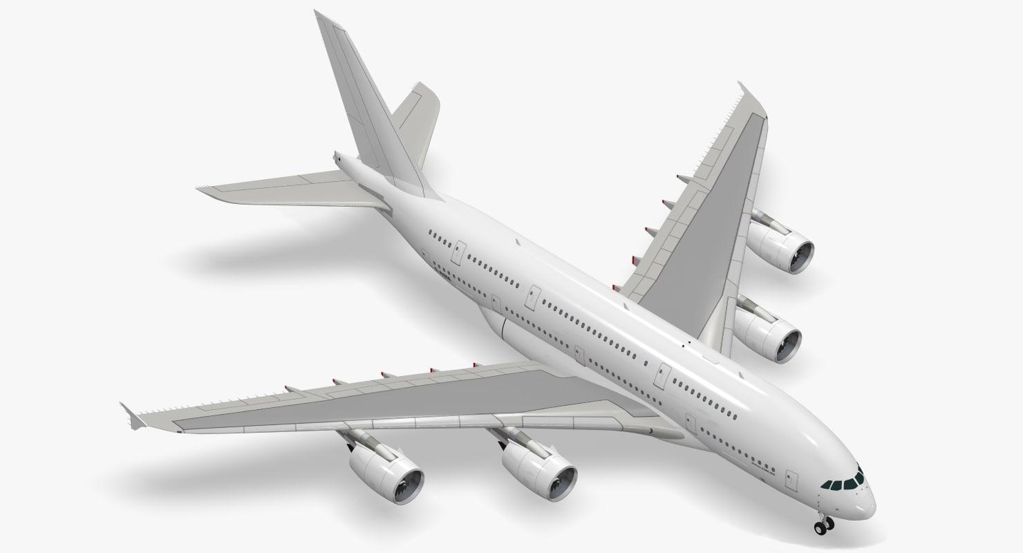 3d airbus a380-800 a380
