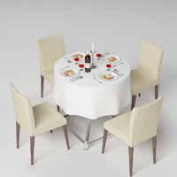 3dsmax table tablewares