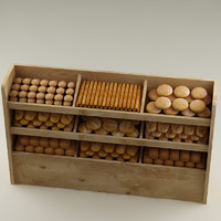 3d model bread shelf