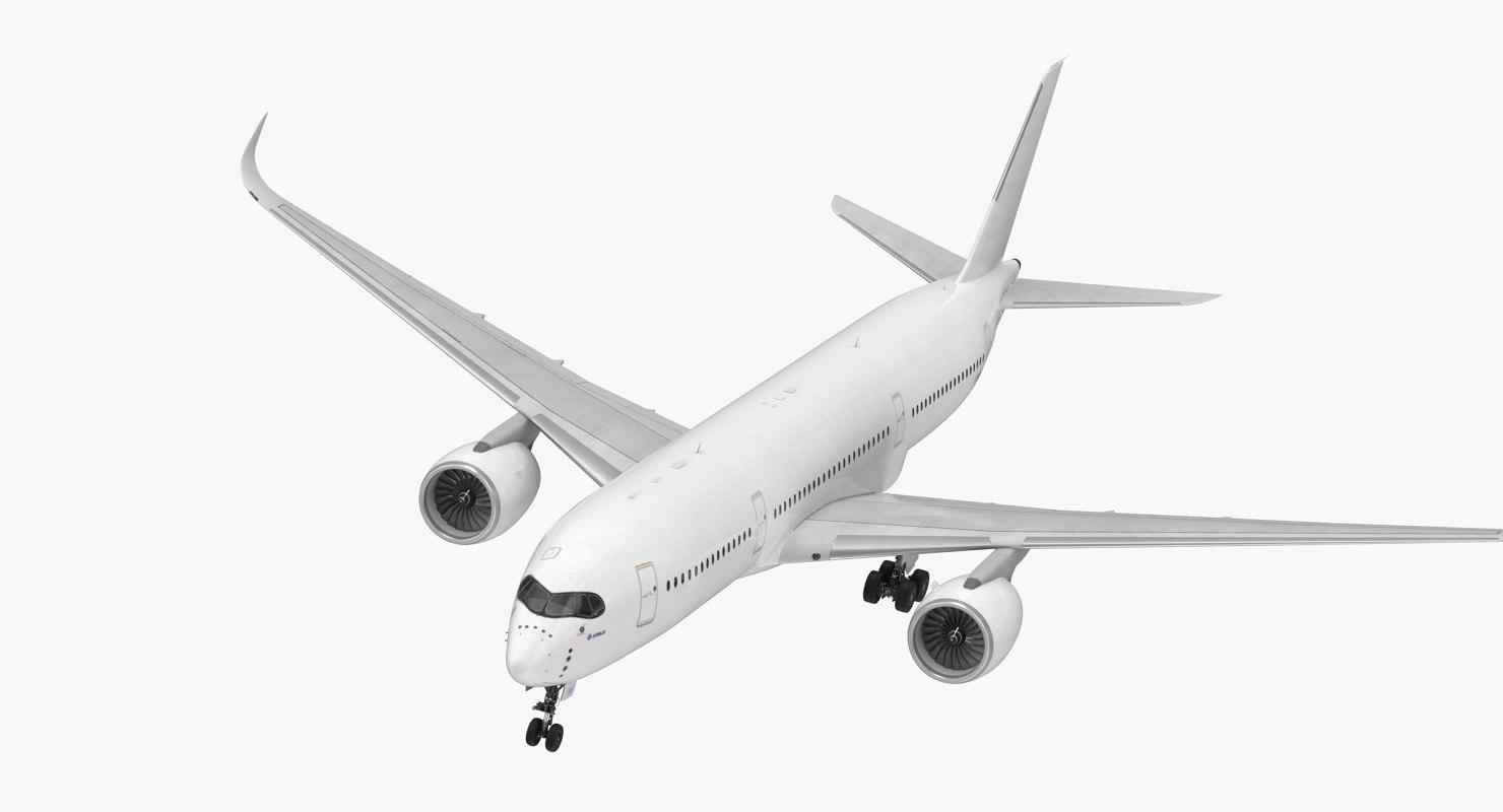 airbus a350-900 generic 3D model