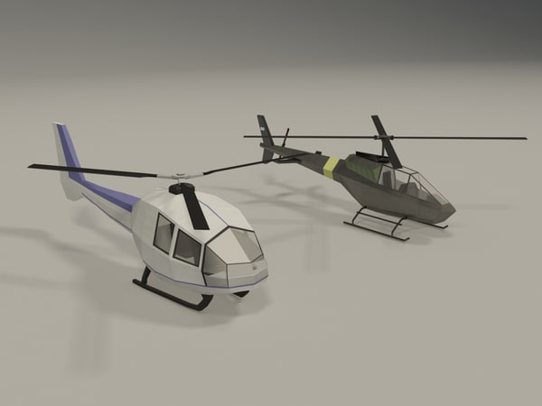 3d helicopters model