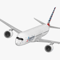 airbus a350-1000 american airlines 3D model
