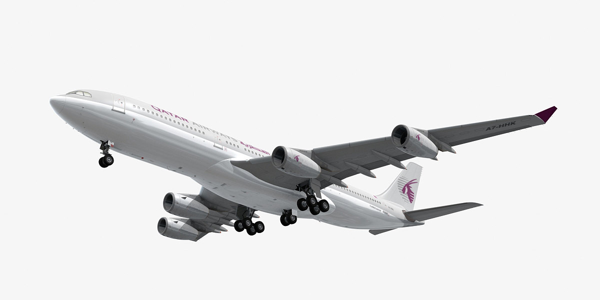 airbus a340-200 plane qatar dxf