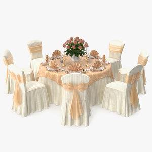 3d table restaurant 1