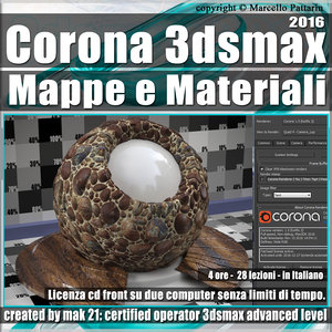 Corona 1.5 in 3dsmax 2016 Mappe e Materiali Vol 3.0 Cd Front