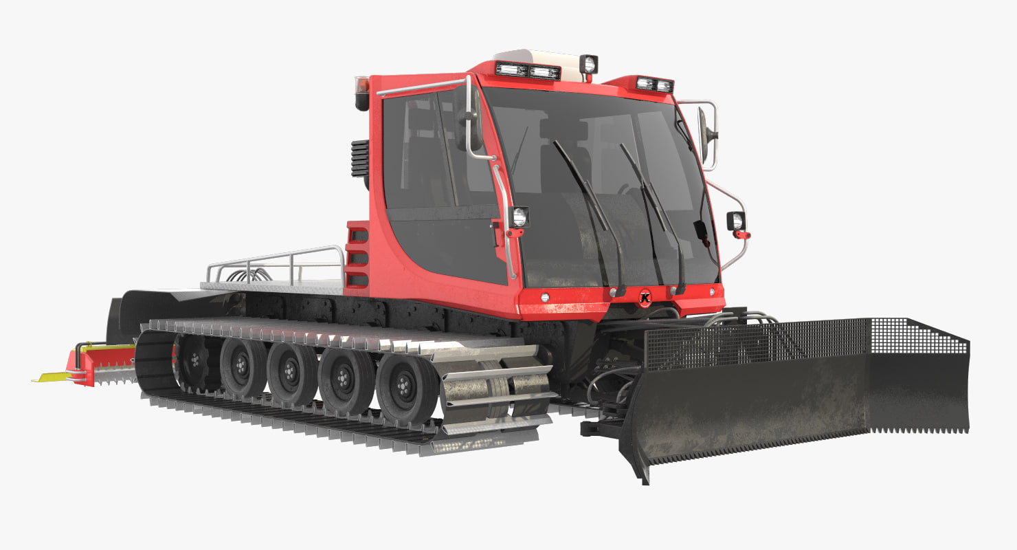 3d model snowcat pistenbully 100