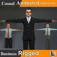 3d model characters animation library