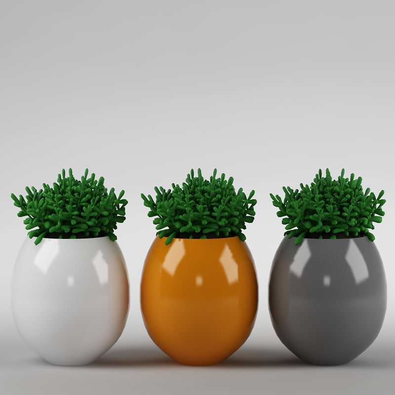 max plant flowerpot realistic