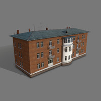 3ds soviet apartment building