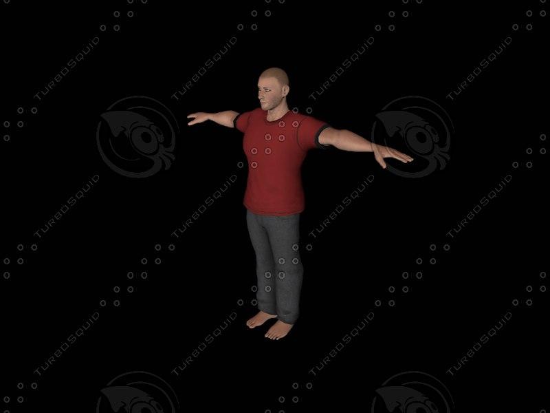 3d man muscular