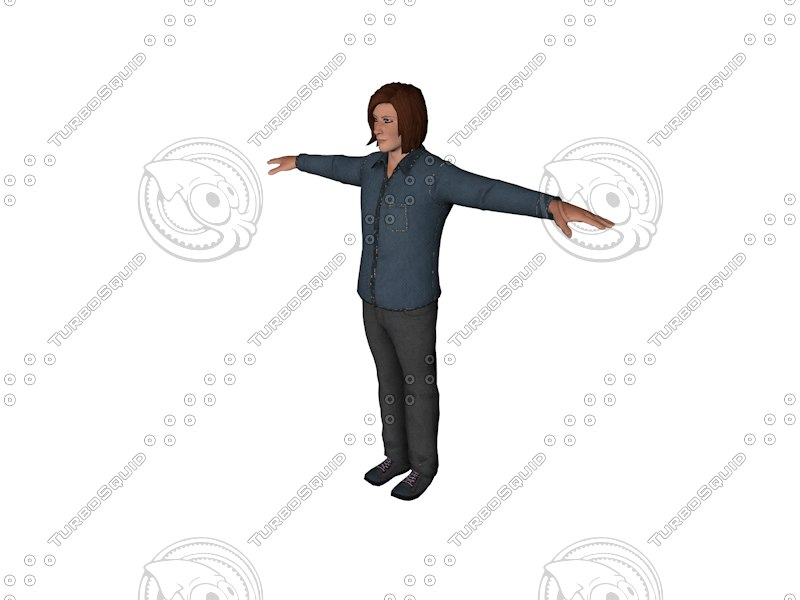 3ds human man